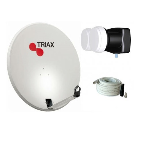 Triax Schotel Antenne + Ontvangstkop + 10M coax kabel